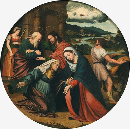 La Visitación. Vicente Macip. Museo Nacional del Prado, Madrid