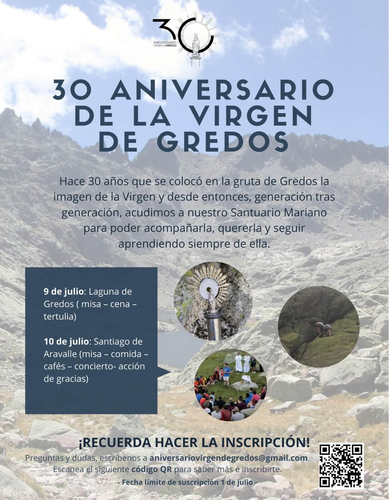 30 aniversario de la Virgen de Gredos